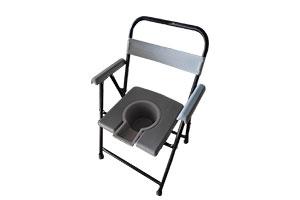 Toilet chair with backrest & armrest